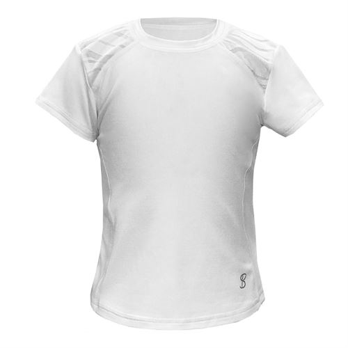 Sofibella Girls Miami Short Sleeve Top - White