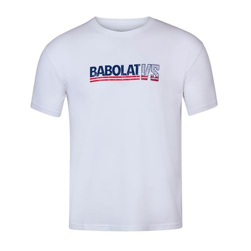Babolat Exercise Vintage Tee Shirt Mens White/White 4MS20443 1000