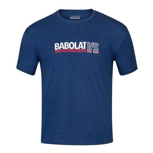 Babolat Exercise Vintage Tee Shirt Mens Estate Blue Heather 4MS20443 4005