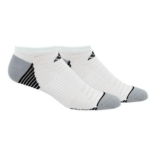 adidas Superlite Speed Mesh No Show Sock (2 Pack) - White/Black