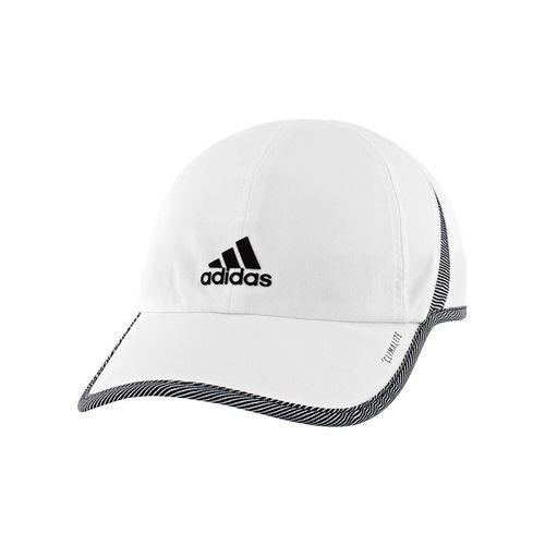 adidas Womens SuperLite Hat - White/Optic Stripe