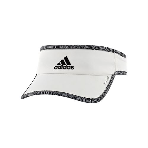 adidas Womens SuperLite Visor - White/Optic Stripe