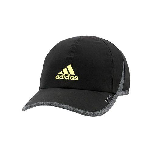 adidas Mens SuperLite Cap - Black/Heather Grey/Shock Yellow