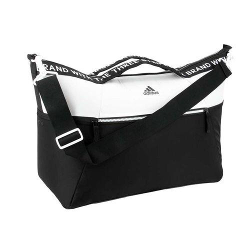adidas Studio III Duffel Bag - White/Black