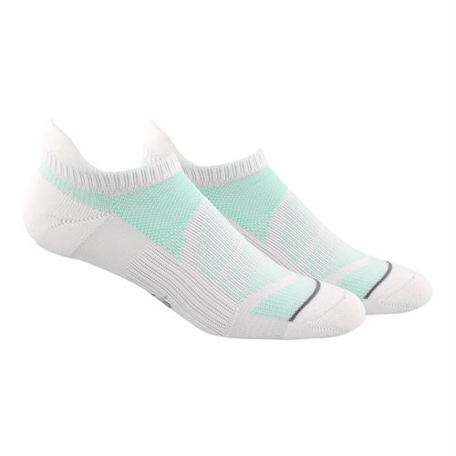 adidas Superlite Prime Mesh III Tabbed 2 Pack No Show Sock - White/Clear Grey/Clear Mint