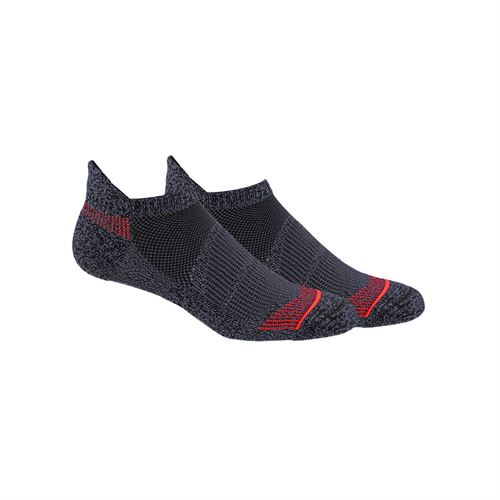 adidas Superlite Prime Mesh III Tabbed No Show Sock (2 Pack) - Black/Red