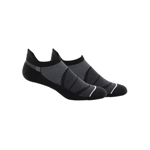 adidas Superlite Prime Mesh III Tabbed No Show Sock (2 Pack) - Black/Onix