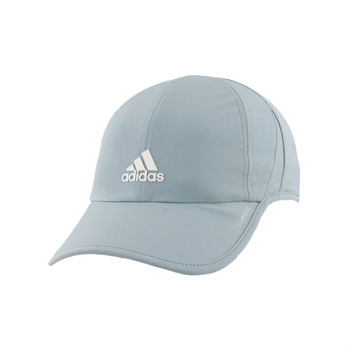 2dd6e7d1316 adidas Womens SuperLite Cap - Ash Grey White