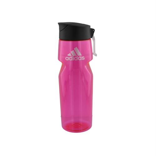 adidas All Around 750 Plastic Water Bottle - Shock Pink/Silver