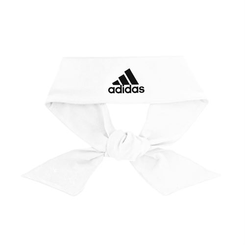 adidas Alphaskin Tie Headband - White/Black
