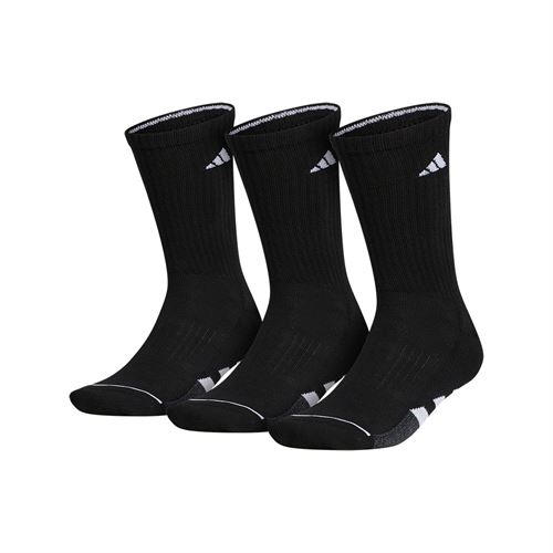 adidas Cushioned II 3 Pack Crew Sock - Black/White/Onix Marl