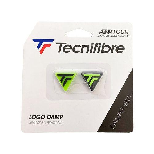 Tecnifibre Logo Damp 2 Pack - Lime/Black