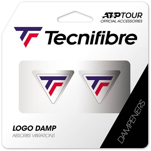 Tecnifibre Logo Damp 2 Pack - White/Blue/Red