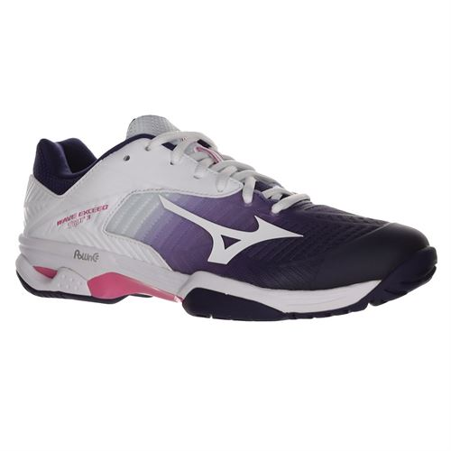 Mizuno Wave Exceed Tour 3 Womens Tennis Shoe - White/Purple/Pink