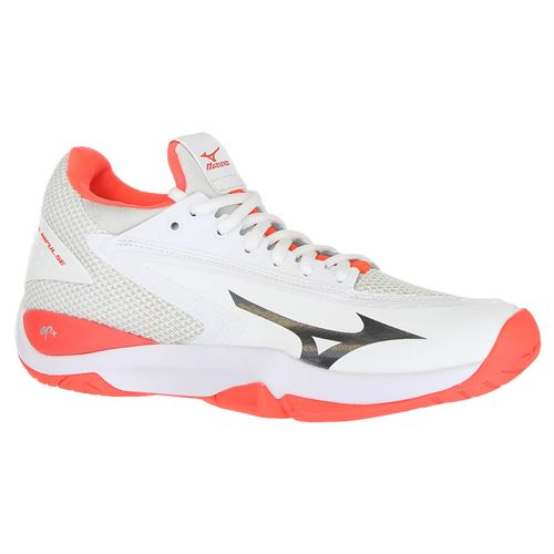 Mizuno Wave Impulse Womens Tennis Shoe - White/Red