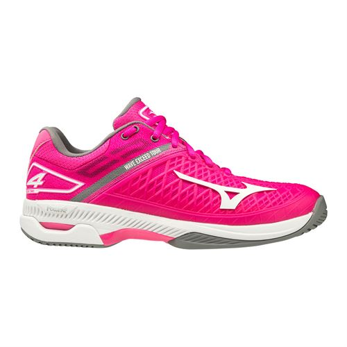 Mizuno Wave Exceed Tour 4 Womens Tennis Shoe Bright Pink/White 550021 1D00