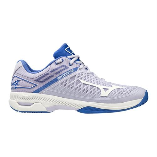Mizuno Wave Exceed Tour 4 Womens Tennis Shoe Purple/White 550021 6Q00