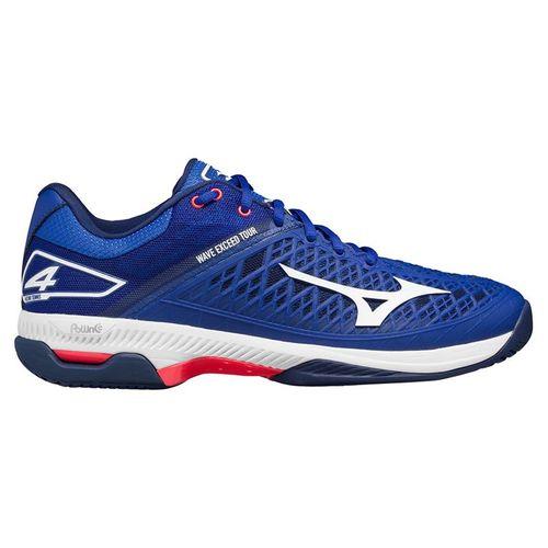 Mizuno Wave Exceed Tour 4 Mens Tennis Shoe - Blue/White