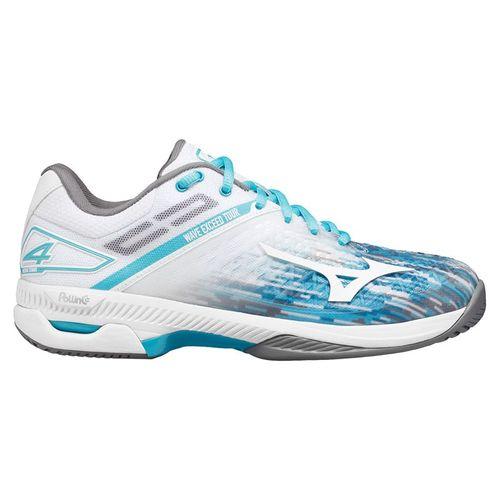 Mizuno Wave Exceed Tour 4 AC Womens Tennis Shoe Scuba Blue/White 550026 SC00