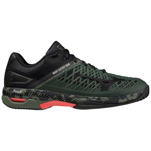 Mizuno Wave Exceed Tour 4 Mens Tennis Shoe Dark Green Camo/Black 550029 4V90