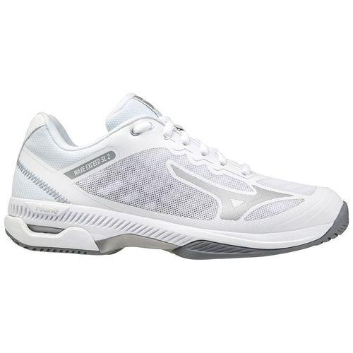 Mizuno Wave Exceed SL 2 Womens Tennis Shoe White/Silver 550032 0073