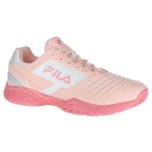 Fila Axilus 2 Energized Womens Tennis Shoe - Crystal Rose/Salmon Rose/White