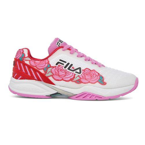 Fila Axilus 2 Energized Womens Tennis Shoe White/Rose Print 5TM00604 127