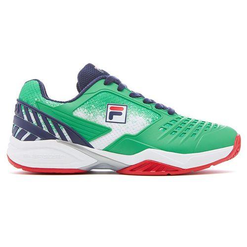Fila Axilus Energized 2.0 Womens Tennis Shoe Green/Navy/Red 5TM00631 325