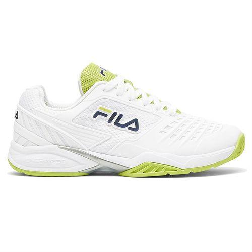 Fila Axilus 2 Energized Womens Tennis Shoe White/Navy/Lime 5TM01162 138