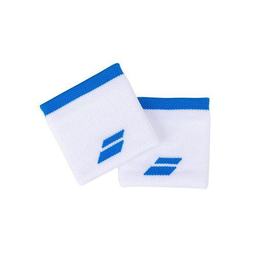Babolat Logo Wristband - White/Blue Aster