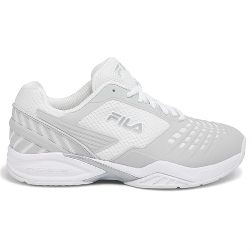 509228af0da1 Fila Axilus Energized Womens Tennis Shoe - White Metallic Silver