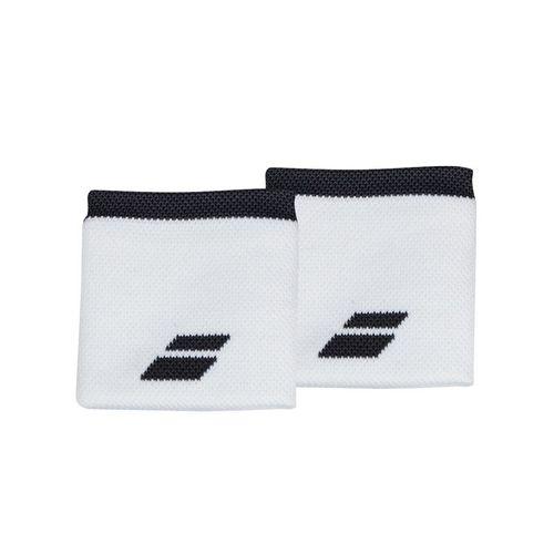 Babolat Logo Wristband - White/Rabbit