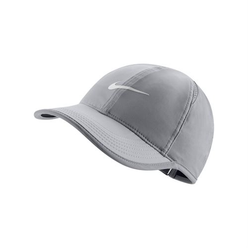 312109bbac9d7 Nike Court Aerobill Featherlight Womens Hat - Grey/Black 679424 010