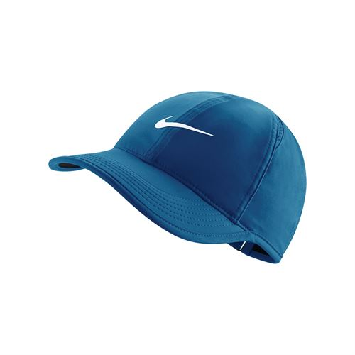 Nike Womens Court Aerobill Featherlight Hat - Blue/Black