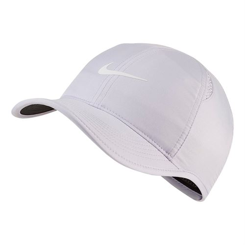 28885b52287 Nike Womens Court Aerobill Featherlight Hat - Oxygen Purple Black White