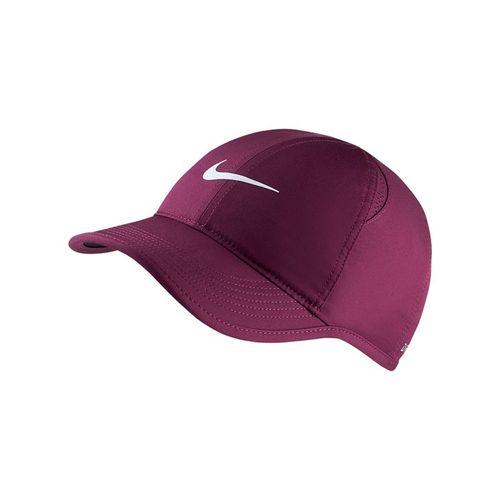 Nike Womens Court Aerobill Featherlight Hat - Bordeaux/White
