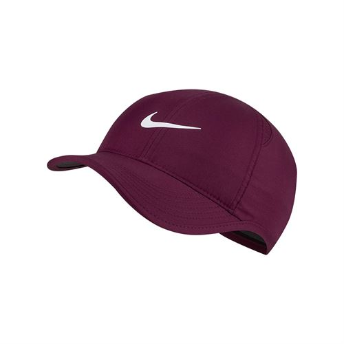 Nike Womens Feather Light Hat - Bordeaux/Black/White