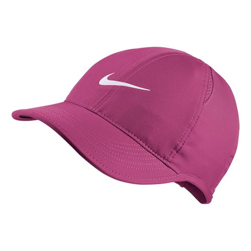 8c0d3d75940 Nike Womens Court Aerobill Featherlight Hat - Active Fuchsia Black White
