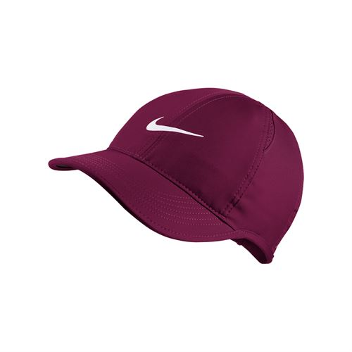 13642ea2053f1 Nike Womens Court Aerobill Featherlight Hat - True Berry