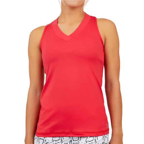 Sofibella UV Colors Racerback Tank Womens Berry Red 7001 BER