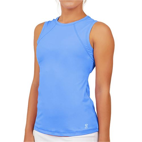 Sofibella UV Sleeveless Tank Womens Valley Blue 7003 VBL