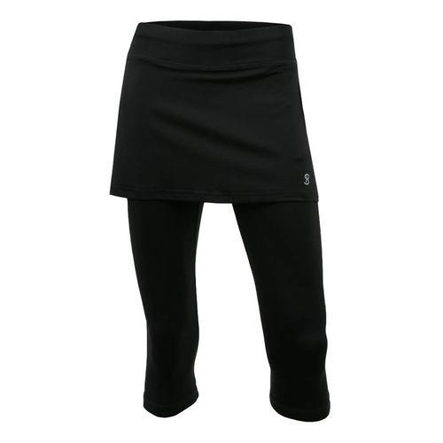 Sofibella Abaza Skirt w/Leggings Plus Size Womens Black 7011 BLKP