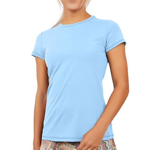 Sofibella UV Short Sleeve Top Womens Cloud 7012 CLD