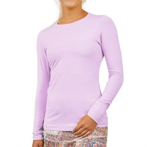 Sofibella UV Colors Long Sleeve Top Womens Lavendar 7013 LAV