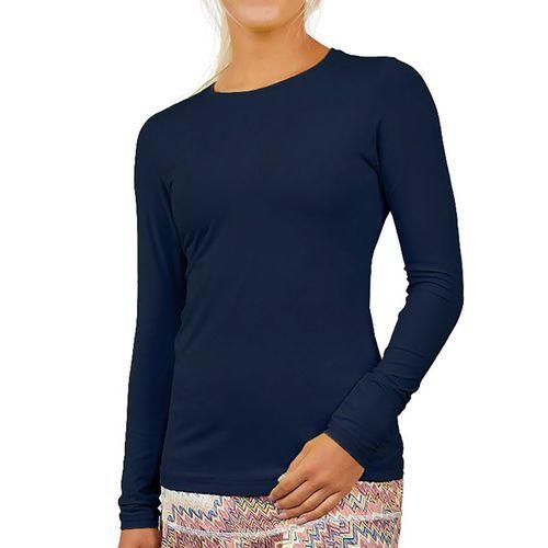 Sofibella UV Long Sleeve Top Plus Size Womens Navy 7013 NVYP
