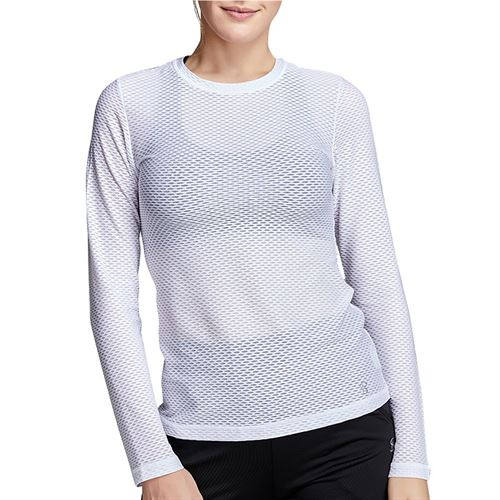 Sofibella Air Flow Long Sleeve Top Plus Size Womens White 7013W WHTP
