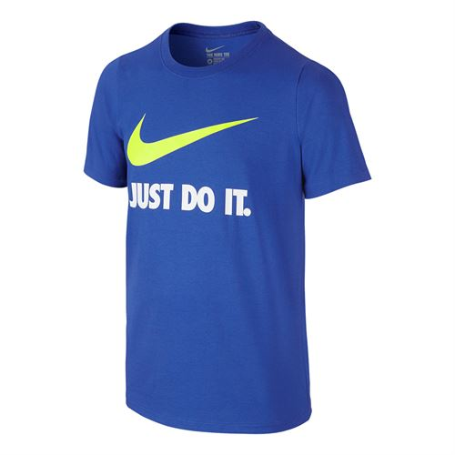 Nike Boys Swoosh Training Tee - Game Royal/Volt