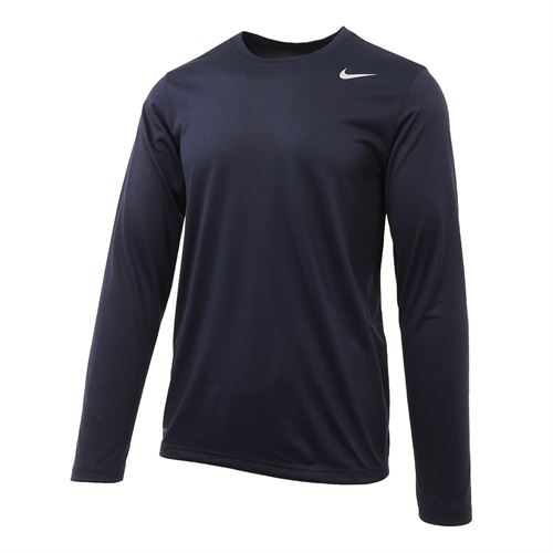 fc614b79bdb967 Nike Legend 2.0 Long Sleeve Crew, Obsidian/Black, 718837 451