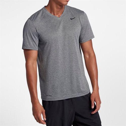Nike Dry Training Tee Shirt - Carbon Heather/Black