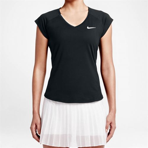b81f99843 Nike Pure V Neck Top, Black, 728757 010